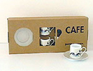set of coffee cups and saucers